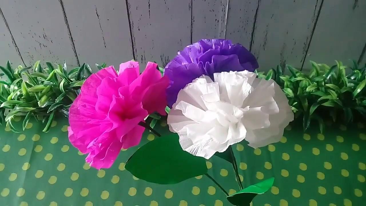 Cara Mudah Membuat Bunga Dari Kertas Krep Cocok Untuk Prakarya Sd