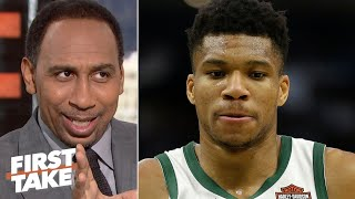 Stephen A doesnt believe Giannis Antetokounmpo will lead the Bucks to the NBA Finals  First Take