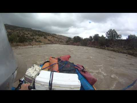 Gauging Station Rapid. Rio Chama, New Mexico.  450 cfs.