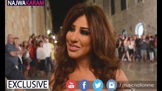 نجوى كرم  مقابلة حصرية من موقع تصوير كليبها في كرواتيا  Najwa Karam