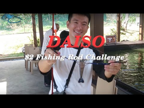 Singapore Prawn Fishing - Daiso $2 Rod Challenge