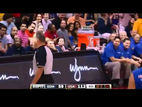 Anthony Davis 4 Point Play for USA Olympic Basketball