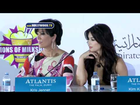 Hollywood - Kim Kardashian, Kris Jenner and Sheeraz Hasan - Dubai Press Conference