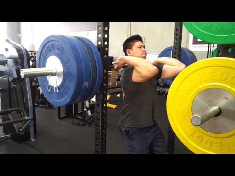 Martin passes out with a 180kg front squat