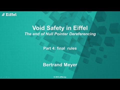Void Safety in Eiffel, part 4: Final Rules