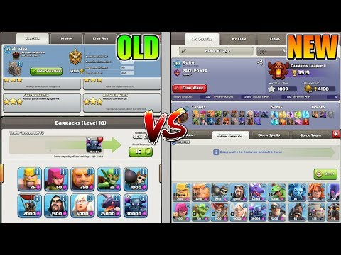 OLD CLASH OF CLANS VS NEW CLASH OF CLANS | CLASH OF CLANS IMPROVEMENT 2012 - 2018 | UI CHANGES