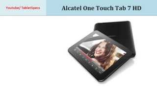 Alcatel One Touch Tab 7 HD, Quick Specification