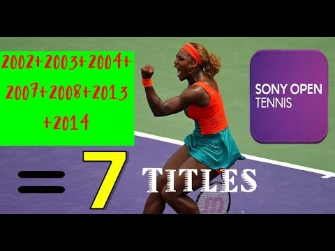 All 7 Of ♥Serena Williams♥ Miami  Sony Open Title Winning Moments!