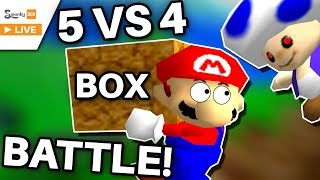 5 VS 4 Pizza Box CHALLENGE! (Super Mario 64) ft. SMG4, Nathaniel Bandy, Nintendrew, DPadGamer & MORE