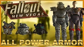 Fallout New Vegas: ALL POWER ARMOR SETS AND ALL VARIATIONS! (+DLC)
