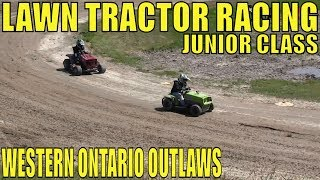 Junior Class Lawntractor Racing At Western Ontario Outlaws June 23 2019 FINALS