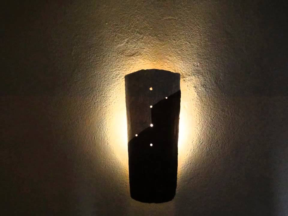 2 aplique flotante teja rabe rustica pintada youtube - Apliques de luz rusticos ...