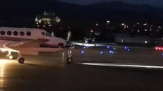 Letisko Prievidza LZPE večerný odlet BROSSE