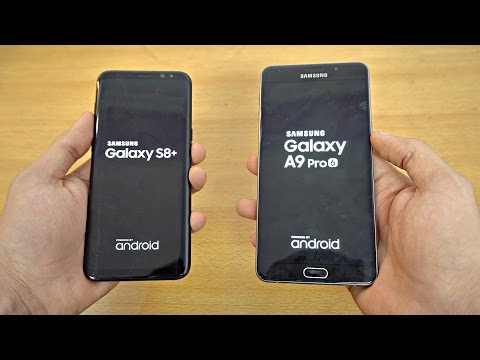 Samsung Galaxy S8 Plus vs Galaxy A9 Pro - Speed Test! (4K)