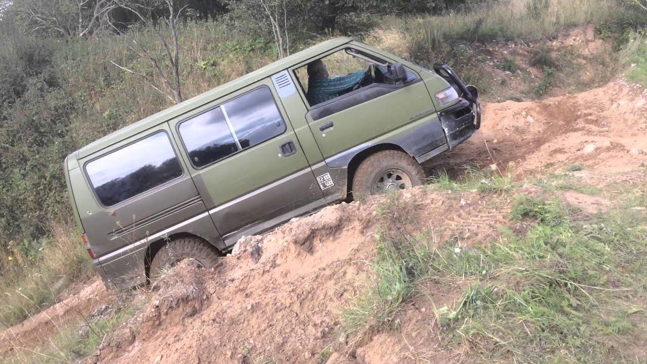 Mitsubishi L300 4WD 4X4 Driving In Gravel Pit