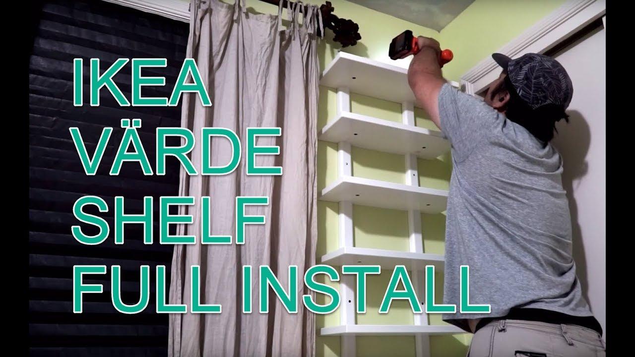 IKEA Varde Shelf Full Assembly and Installation - YouTube