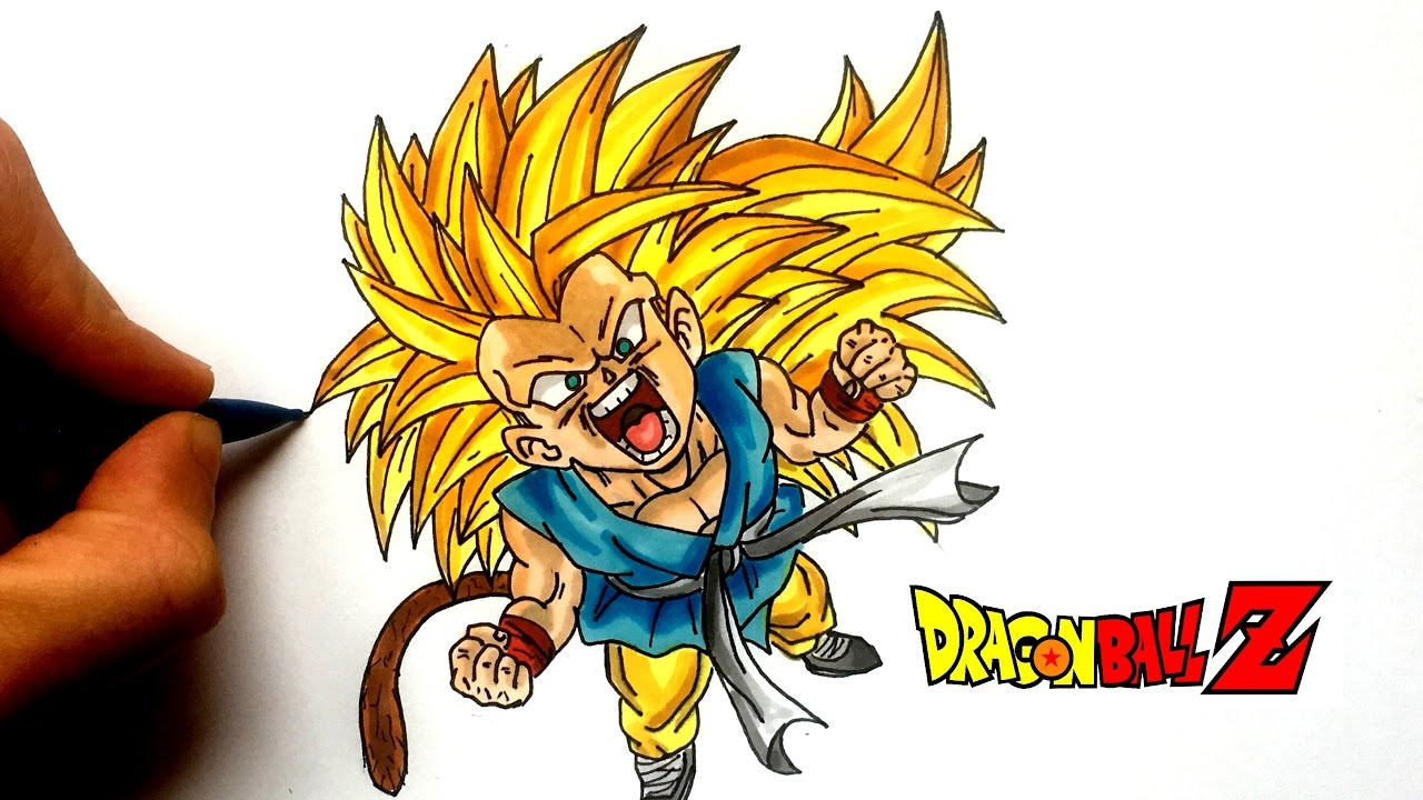 Dessin goku super saiyen 3 chibi dragon ball z youtube - Dessin de sangoku super sayen 9 ...