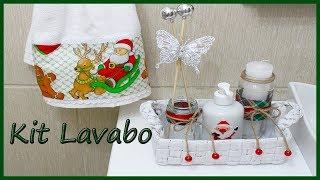 kit Lavabo/ Banheiro de Natal, 3 peças lindas e fáceis de fazer