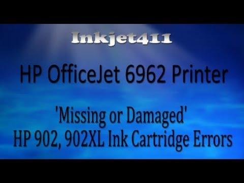 HP OfficeJet 6962 Printer Errors (HP 902 Ink Cartridges)