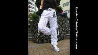 White cargo pants. Белые карго штаны