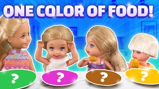 Barbie - Eating Only One Color of Food for 24 Hours | Ep.225