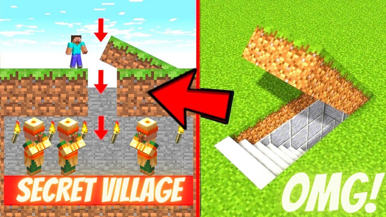 Download I Made a UNDERGROUND SECRET House In Minecraft 🔥🔥🔥