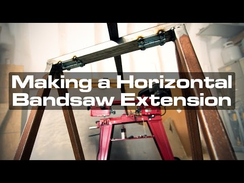 Making a Collapsible Horizontal Bandsaw Extension
