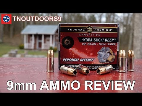 9mm Federal Hydra-Shok DEEP Ammo Review (2019)