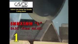 Disco de Serra Cavok PROmetal para corte de metal sem rebarbas a frio (teste parcial)