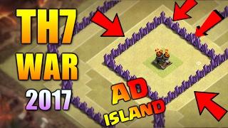 'AD ISLAND' BEST TOWN HALL 7 WAR BASE 2017 ♦ TH7 ANTI DRAGON WAR BASE | CLASH OF CLANS