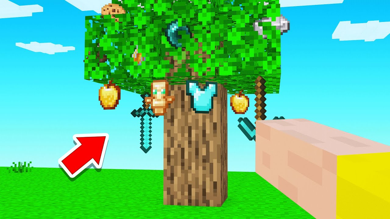 Download TREES GROW ITEMS In Minecraft!