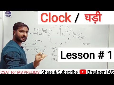 CSAT (R 18): Clock # 1 (for UPSC & PCS Exams)