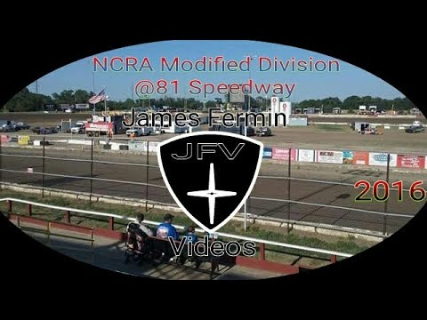NCRA Modified, Four Wide Salute #8, 81 Speedway