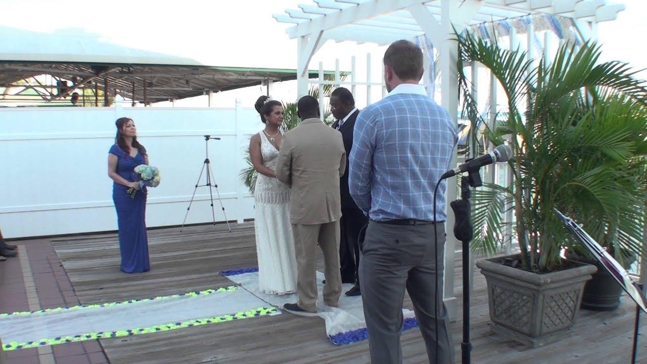 Holiday Inn Harbourside Wedding Ceremony Indian Rocks
