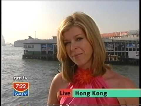 GMTV - Kate Garraway gets a soaking in Hong Kong