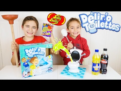 DELIR'O TOILETTES EXTRÊME CHALLENGE ! Coca, Orangina, Jelly Belly - TOILET TROUBLE CHALLENGE