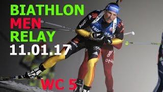 BIATHLON MEN RELAY 11.01.2017  World Cup 5 Ruhpolding (Germany)