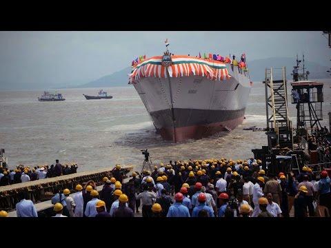 Navy launches warship Mormugao