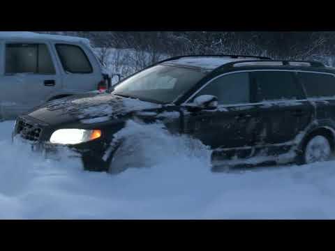 Kia Sportage против Volvo XC70 на снежном бездорожье!