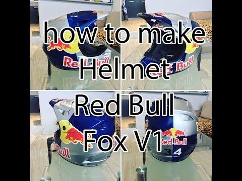 how to make helmet Red Bull FOX / 34Service /