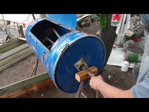 Ручная бетономешалка из бочки своими руками