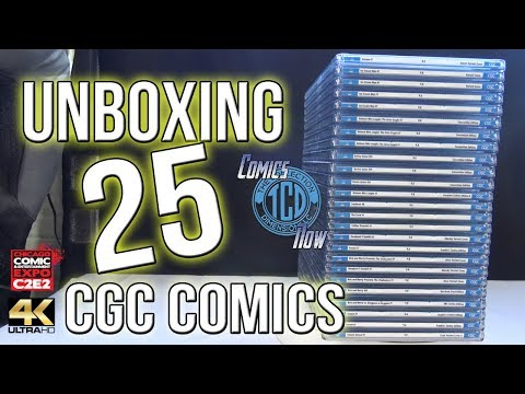 Unboxing 25 CGC Comics from C2E2 some amazing Variants