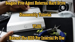 Seagate 1TB External Hard Drive Free Agent Disassembly Tutorial - #Tech Adventures #1