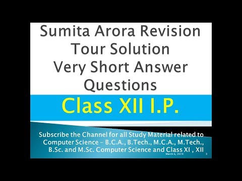 Solution For Very Short Answer Questions IP Revision Tour