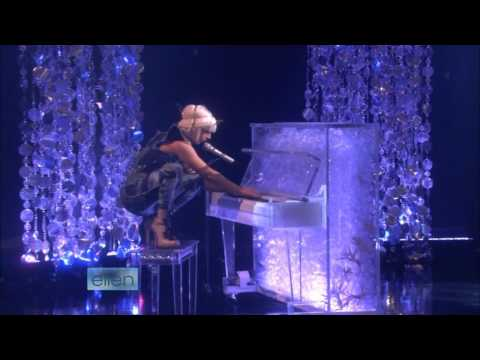 Lady GaGa  Poker Face  on Ellen HD with Interview