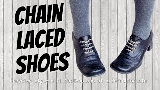 Chained-up Shoes: A Diy Chain Laced Slip-on Shoe Tutorial