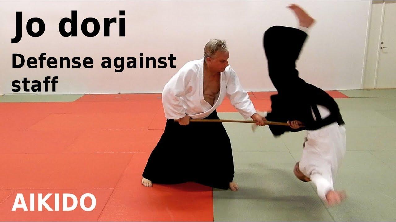 Aikido techniques against jo (staff) attacks, JO DORI, by Stefan Stenudd, 7  dan Aikikai shihan