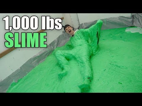 1,000 LBS OF SLIME IN MOVING TRUCK!! (SLIME INSIDE MOVING TRUCK CHALLENGE)