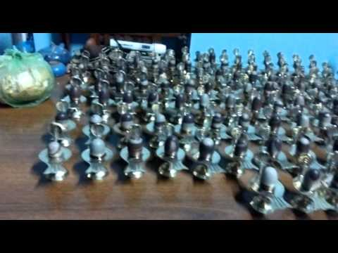 108 shiva lingam with brass yoni base