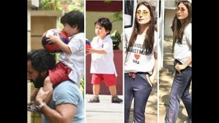 Kareena Kapoor Khan PLAYS Football with son Taimur Ali Khan and Hubby Saif Ali Khan